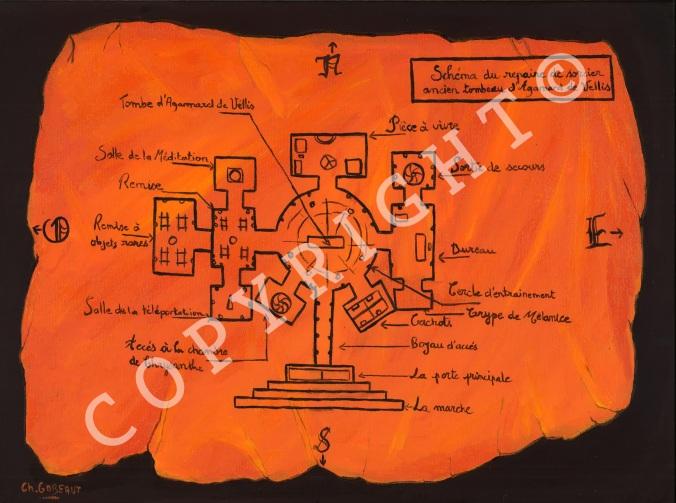 c25 Plan du Tombeau d'Agamard de Vellis