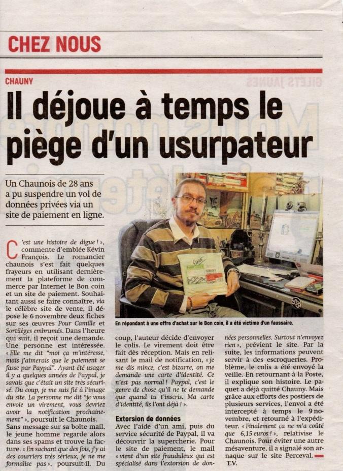 Aisne Nouvelle de Tergnier du 20 11 2018