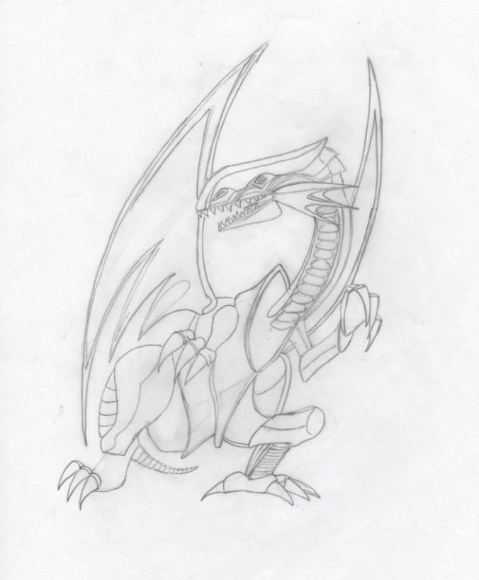 Dragon blanc aux yeux bleux