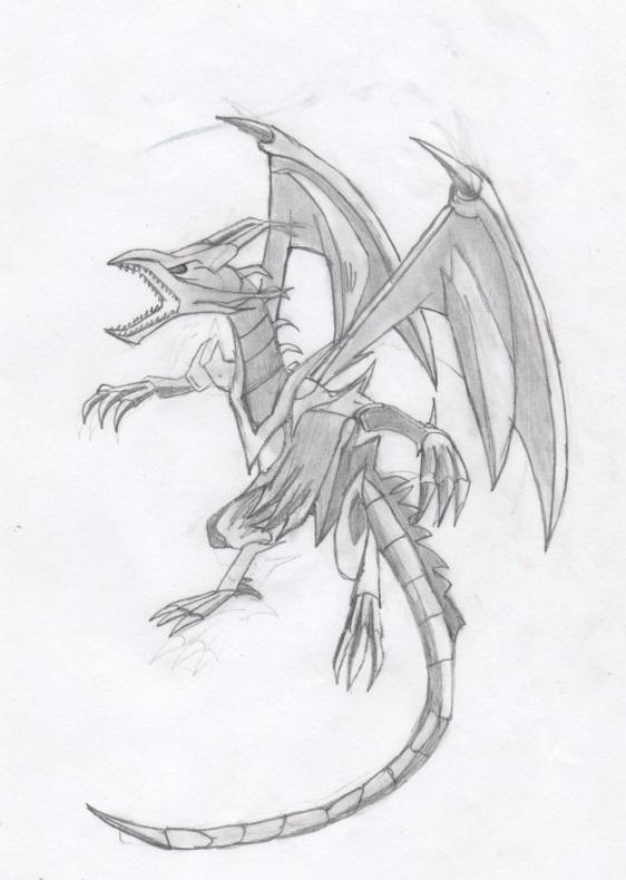 Dragon noir aux yeux rouges