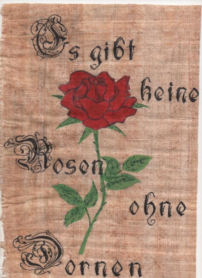 Pas de rose sans épine