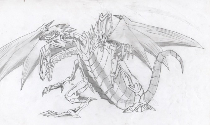 Ultime dragon blanc aux yeux bleus